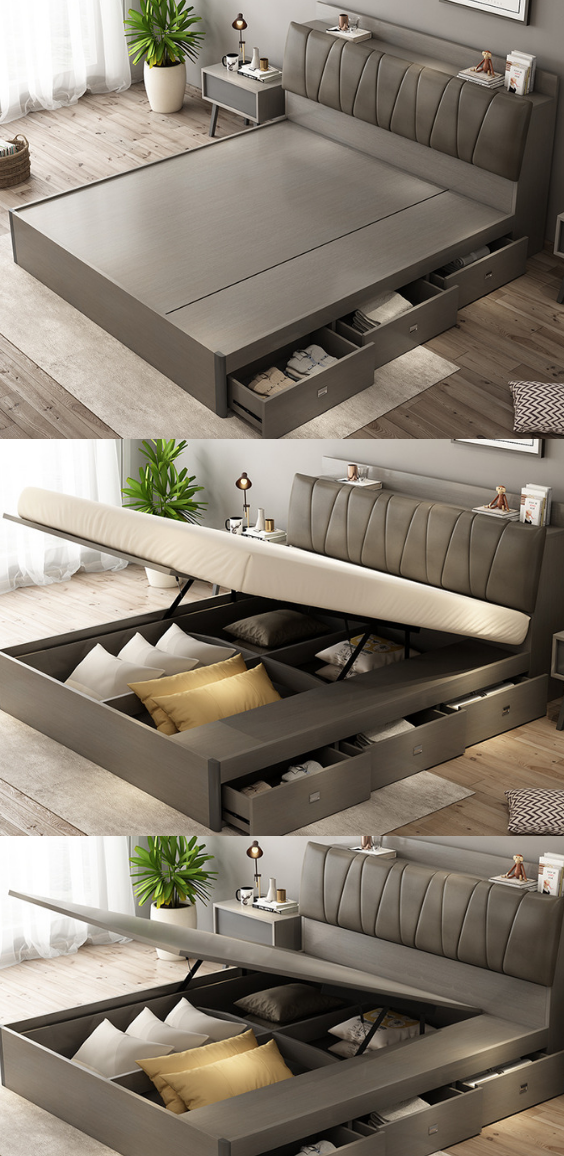 Collection Of Wooden Beds With Storage Boxes Bed Furniture Design