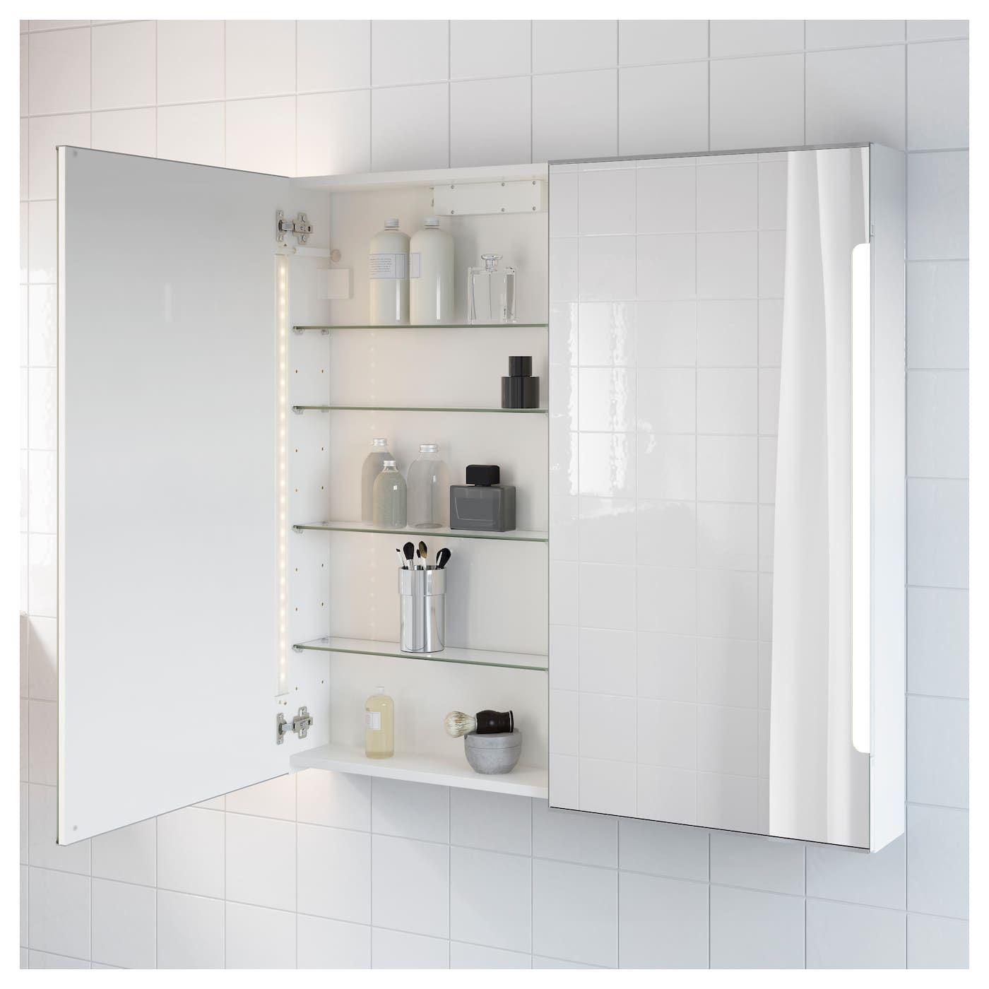 spegelskåp med inbyggd belysning
