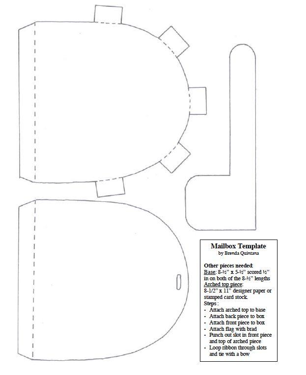 Mailbox Template By Brenda Quintana September Preschool Paper Crafts Community Helper