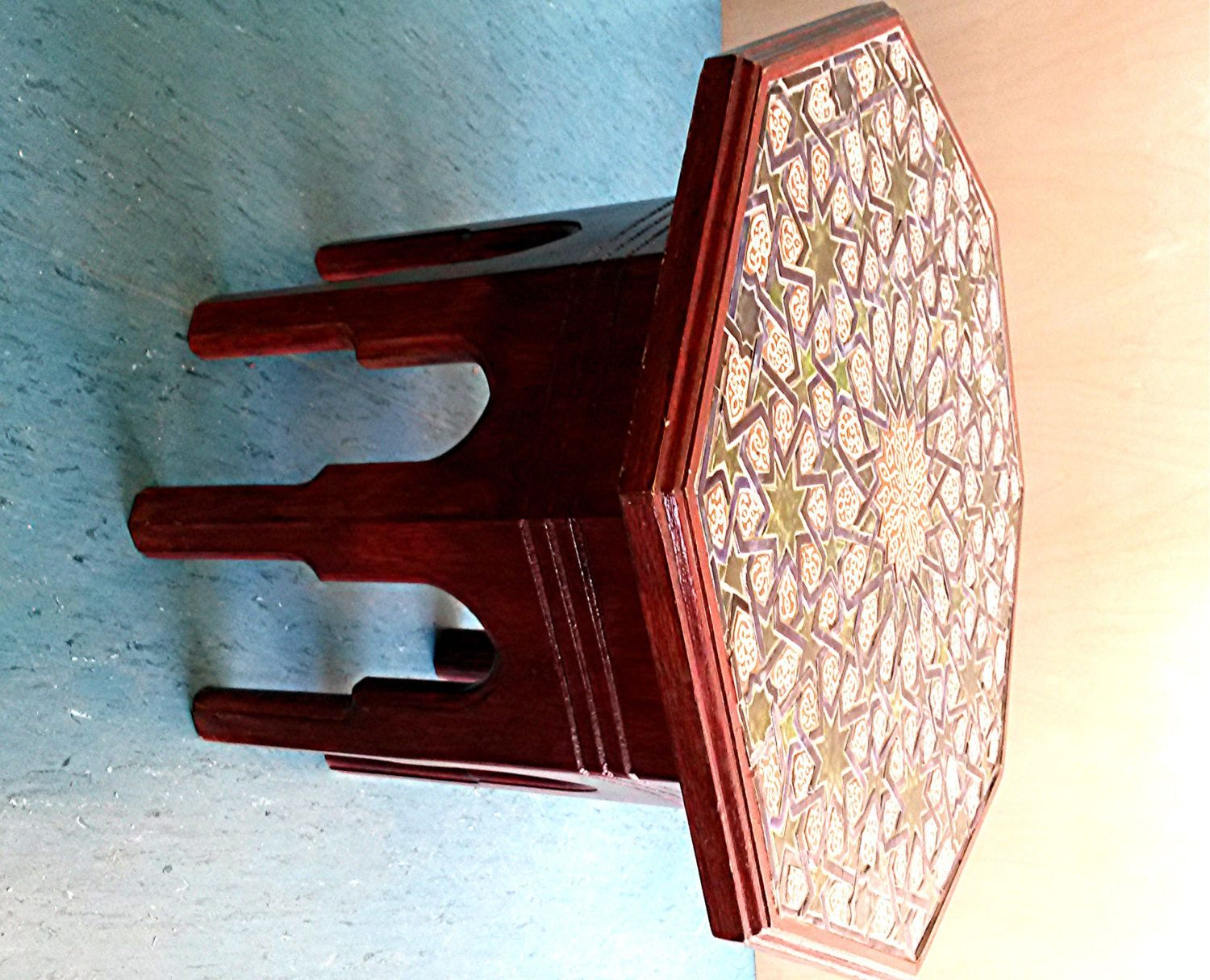 The antique coffee tea table berber benares tray lamp oriental folding - Moroccan Style Ceramic Coffee Table By Camdenshed On Etsy Https Www