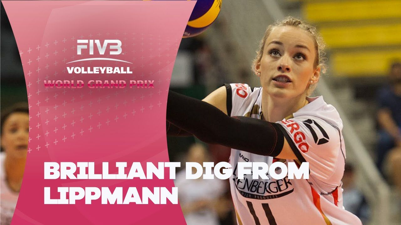 Brilliant Dig From Lippmann Fivb World Grand Prix Volleyball Skills Volleyball Drills Play Volleyball