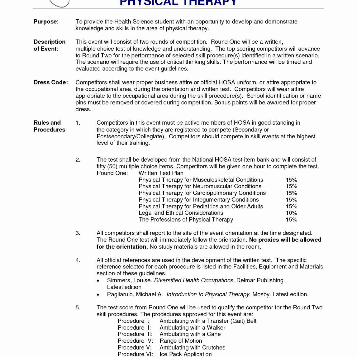 Entry level physical therapist resume luxury best physical