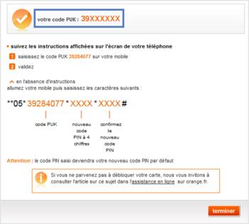 Code Puk Obtenir Le Code Pour Debloquer Votre Carte Sim Assistance Orange Carte Le Code Cartes
