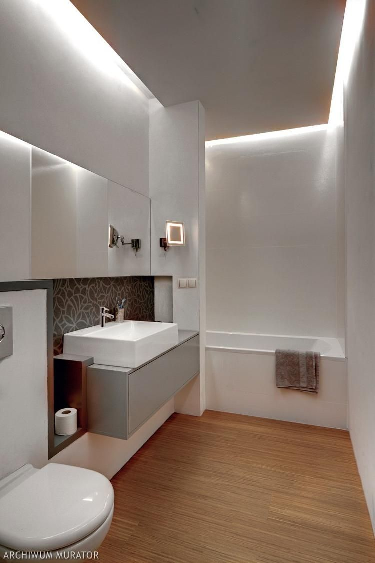 Sufit podwieszany | Łazienka | Bathroom Lighting, Bathroom ...