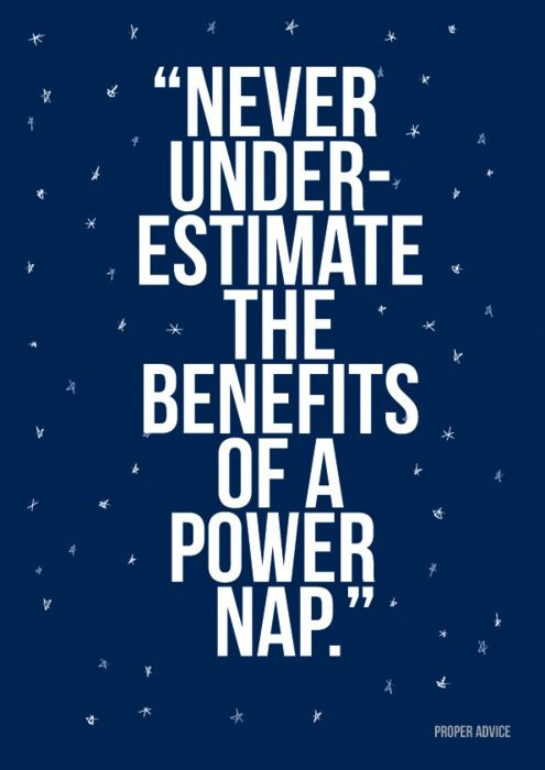 Benefits of a powernap!