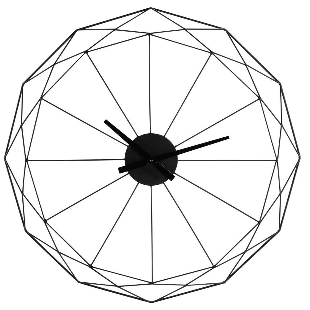 Black Metal Clock D80 In 2019 Metal Clock Diy Clock Home