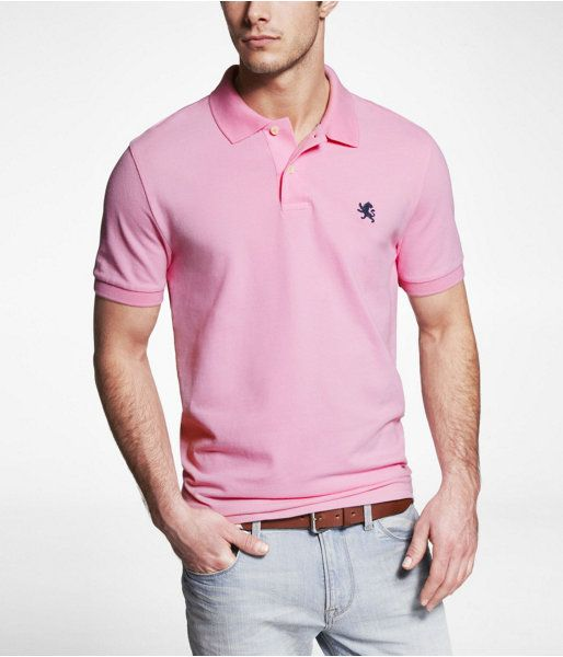 dddb6fa4 gamesinfomation.com Express Mens Modern Fit Small Lion Pique Polo Pink  Flora, Small coupon| gamesinfomation.com