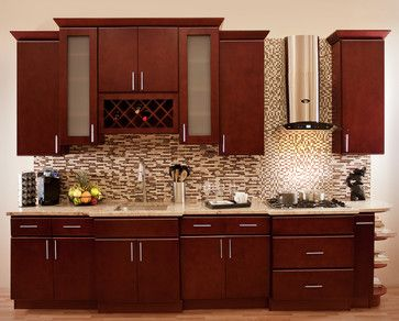 Morocco Cherry Collection   RTA In Stock Kitchen Cabinets   Contemporary    Kitchen Cabinets   New