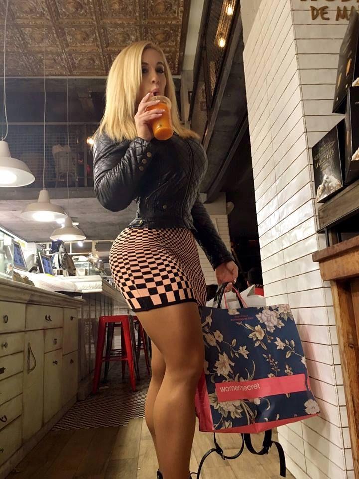 Business. female muscular legs in a skirt