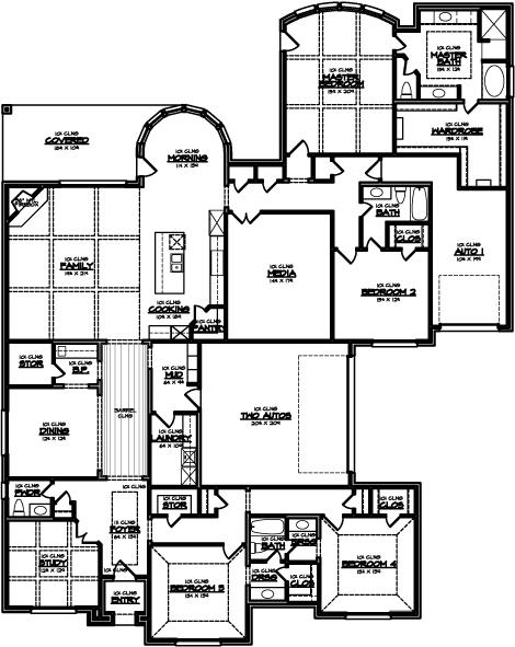Megatel Homes Floor Plan Crestview 3860 Square Feet Floor Plans House Floor Plans Home Builders