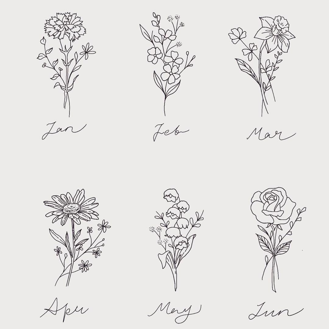 Geometric Wildflower Tattoo