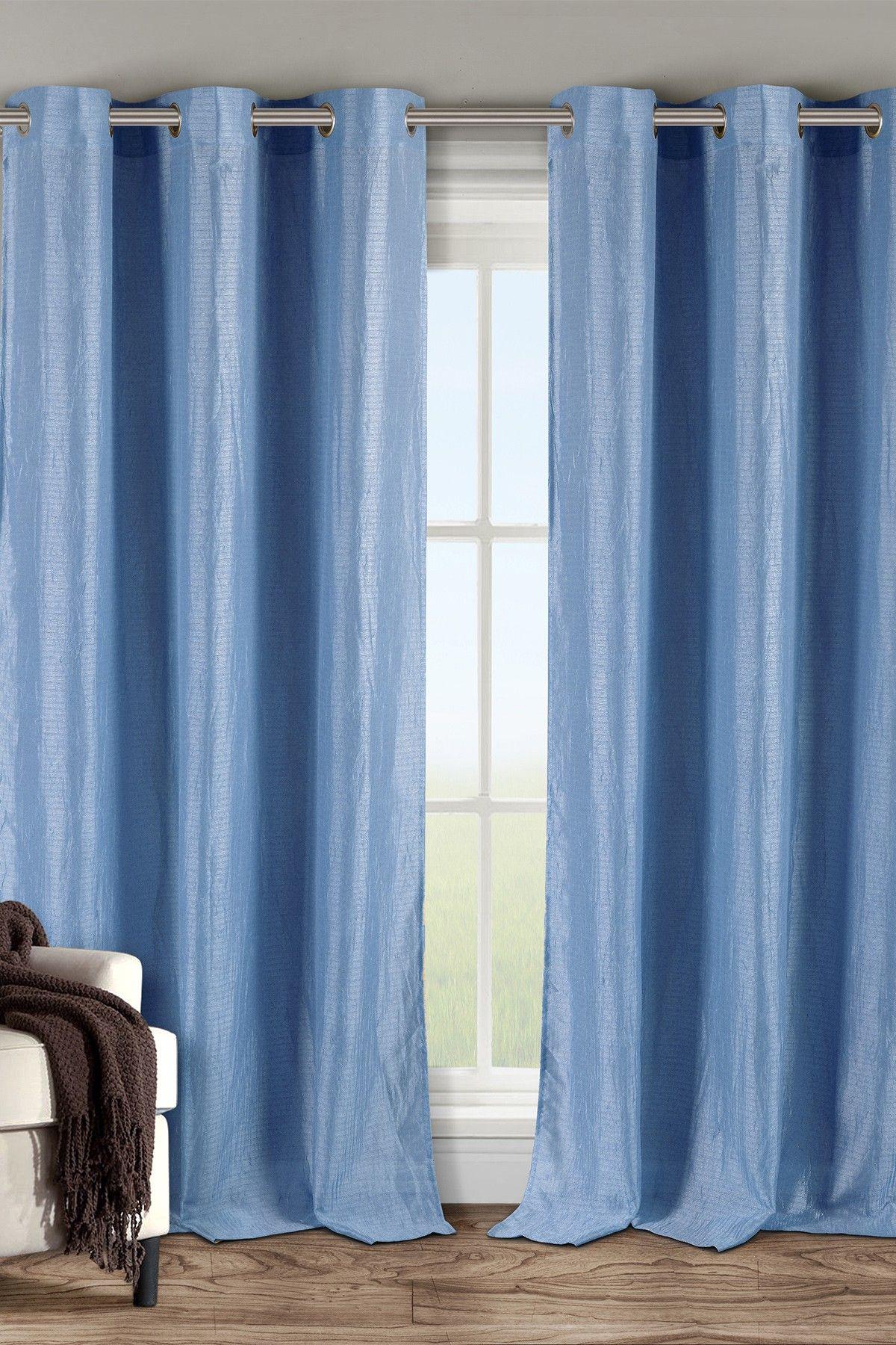 Carrie Sheer Grommet Panel Curtains - Set of 2 - Ocean Blue on @HauteLook
