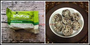 Spirulina Protein Bar  Love Bounce Balls but don't dig the price? I've created an awesome knock off version!   For recipe click here: http://myzestbest.net/2014/03/11/power-bar-poor/