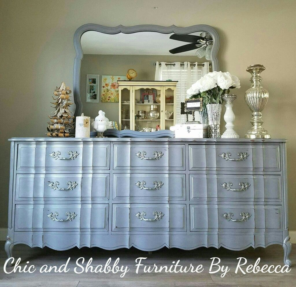 Recycled Diy And Repurposed This Vintage Wavy Drawer French  # Buffet Bas Long Bureau
