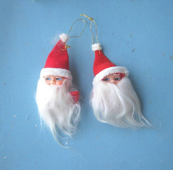 3 Adorable Santa Ornaments/Gift Ties  Cute by MintysMercantile