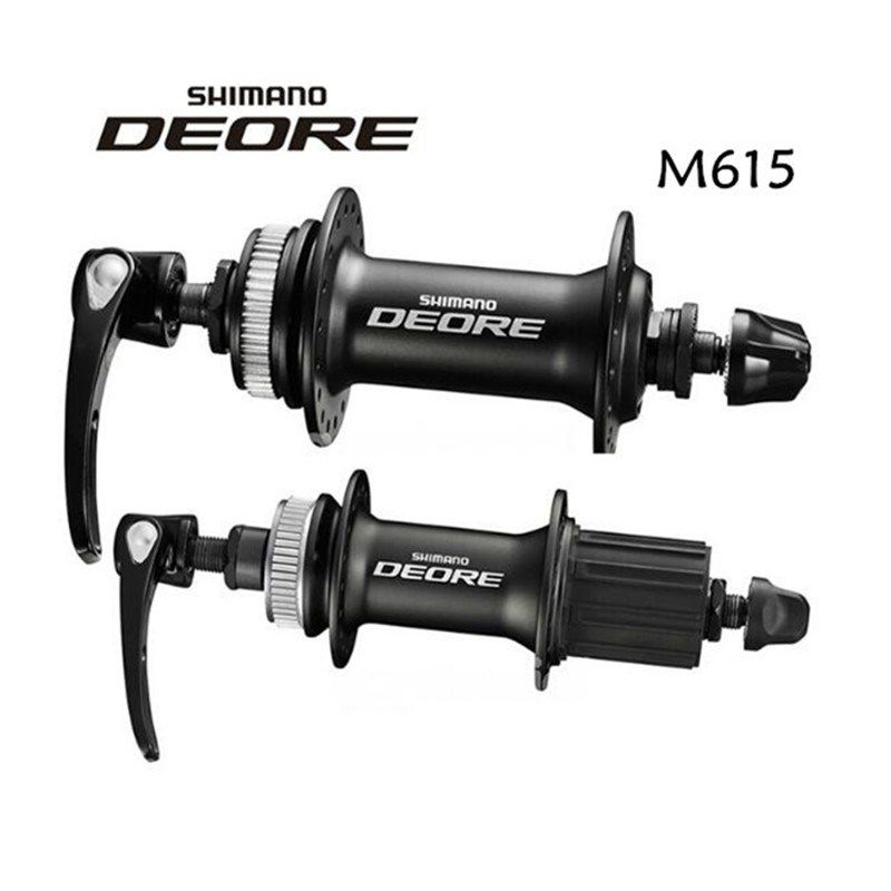 Shimano Deore M615 32 Holes Disc Hub Set Front And Rear Qr