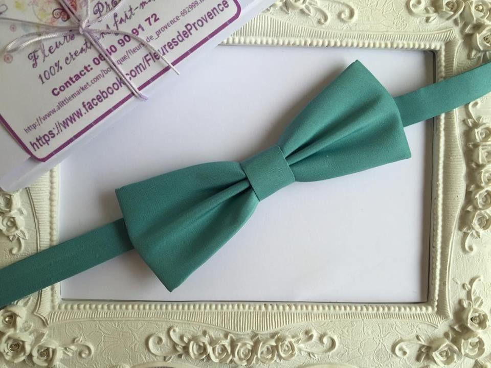 4b53c9fad8bc6 Noeud Papillon élégant Vert Lagon - Homme : Cravates par fleurs-de ...