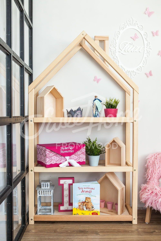 Kids Bedroom House Shaped Shelf Or Wooden House Shelf Nursery Etsy In 2020 Bookshelves Kids Organizing Kids Books Childrens Book Shelves