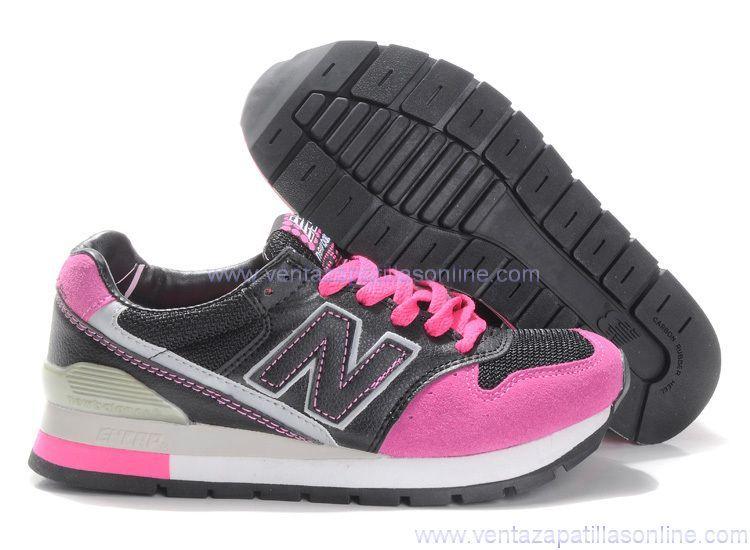 68b1ac8af9c79 nuevas Zapatillas New Balance 996 Mujer Fucsia Negro Venta WH7249 ...