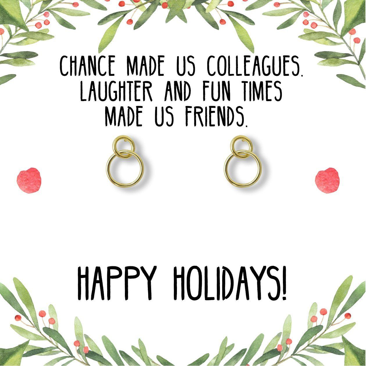 Christmas Gift for Coworker Best Present, Earrings