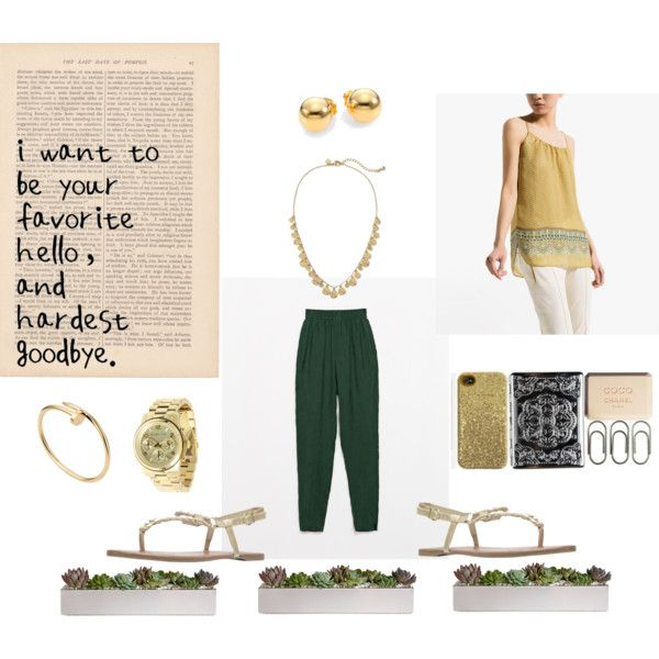 Green and gold, perfect for summer!