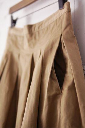 GRANDMA MAMA DAUGHTER プリーツロングスカート (ladies)の画像