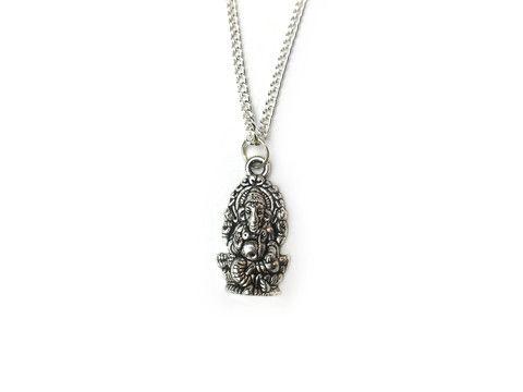 silver Ganesha Necklace #530