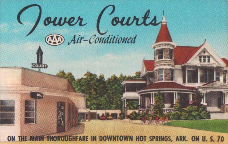 postcards hot springs tower motel google search past hot rh pinterest com
