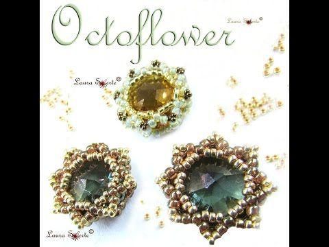 """Modulo """"Octoflower"""" di perline e cristalli - YouTube"""