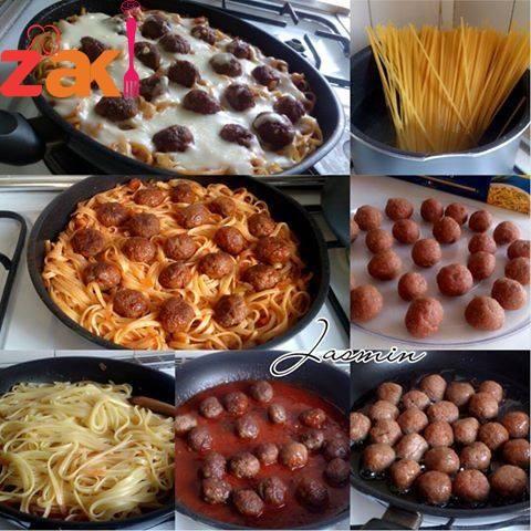 سباغيتي كرات اللحم Food Arabic Food Main Dishes