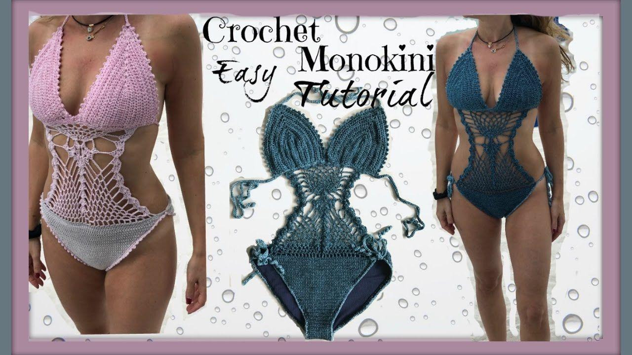 Easy Crochet Monokini Tutorial - YouTube   Crochet   Pinterest ... 6bfc5a97ec