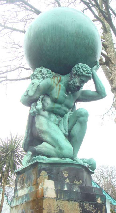 Atlas, according to Greek and Roman mythology Hercules was born with superhuman strength