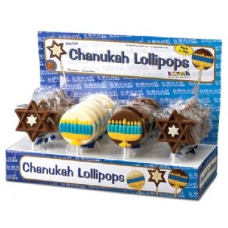 Decorated Hanukkah Lolly Pops