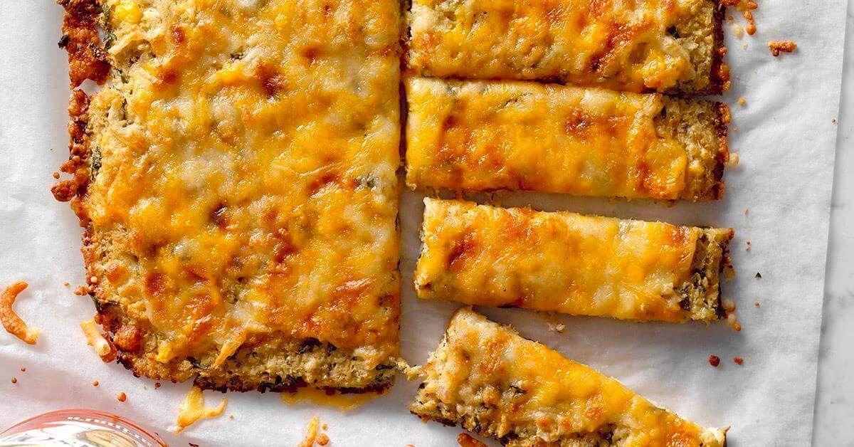 Cheesy Garlic Cauliflower Bread Sticks Recipes Cauliflower