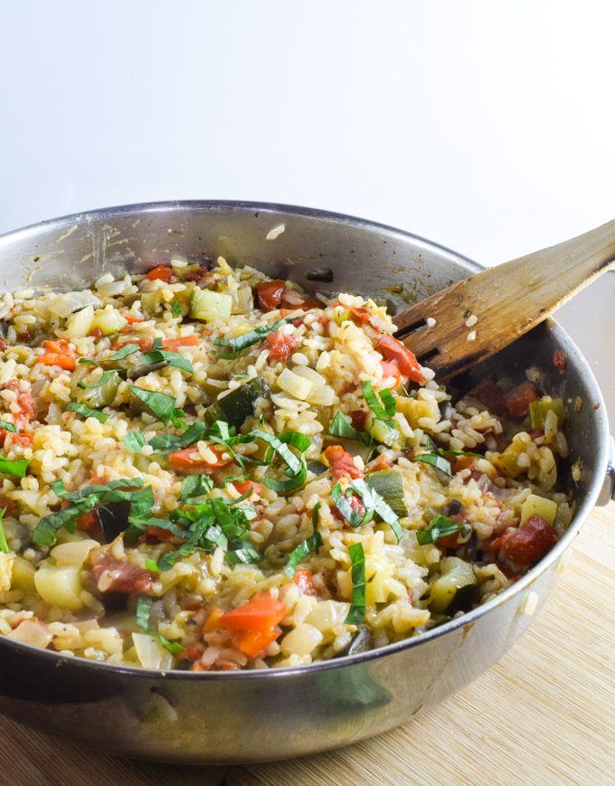 One Pot Ratatouille Rice Yup Its Vegan Food