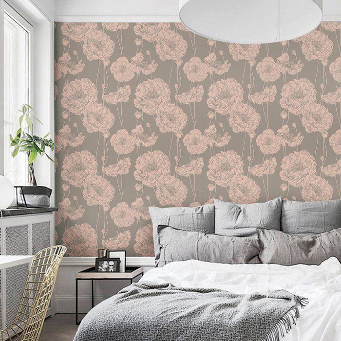 Mullen Peony Peel and Stick Wallpaper Panel in 2020