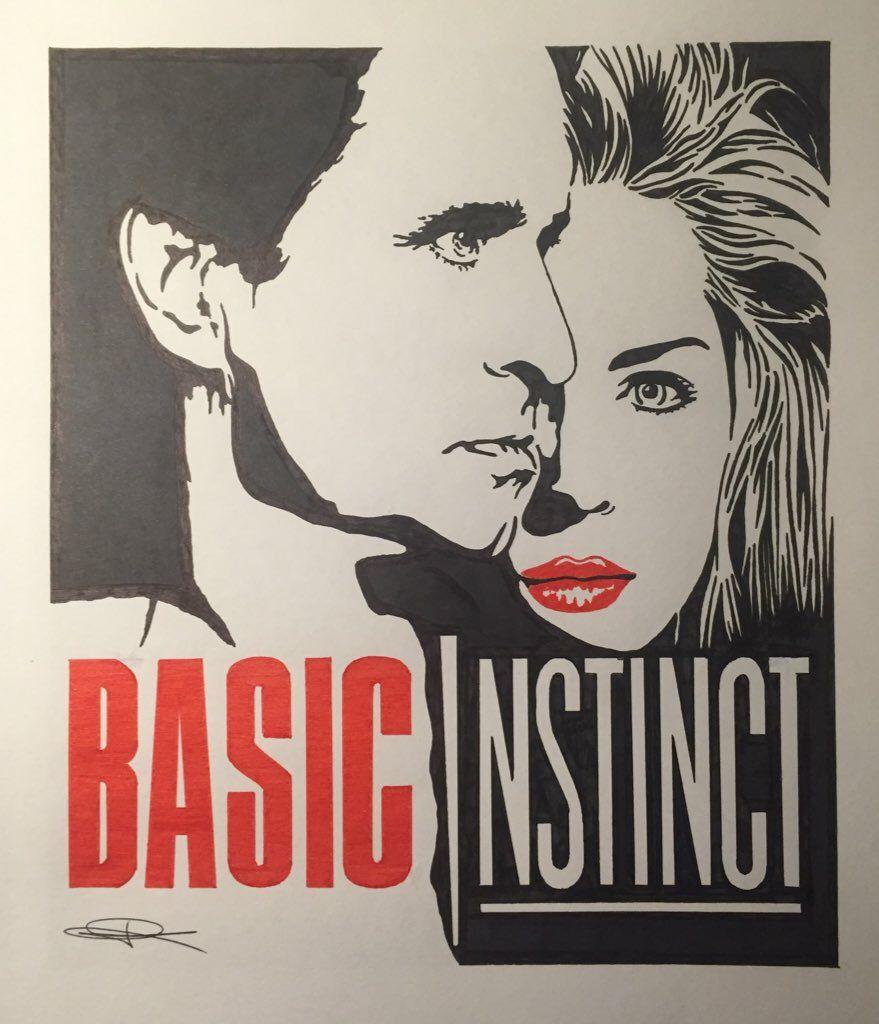 Cartel De La Película Instinto Básico Basic Instinct Sharon Stone Michael Douglas Cine Peliculas Sharon Stone