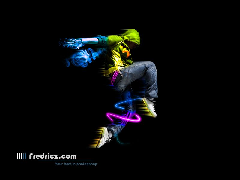 Create a colorful dancer with cool effects. | Adobe Photoshop ...