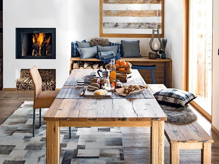 der neue stil der berge bank und tisch aus altem holz modern country pinterest. Black Bedroom Furniture Sets. Home Design Ideas