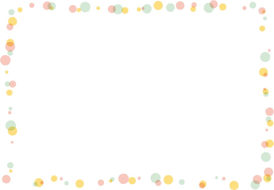 フリーイラスト 水玉模様の飾り枠 フリーイラスト フレーム イラスト 無料 飾り枠