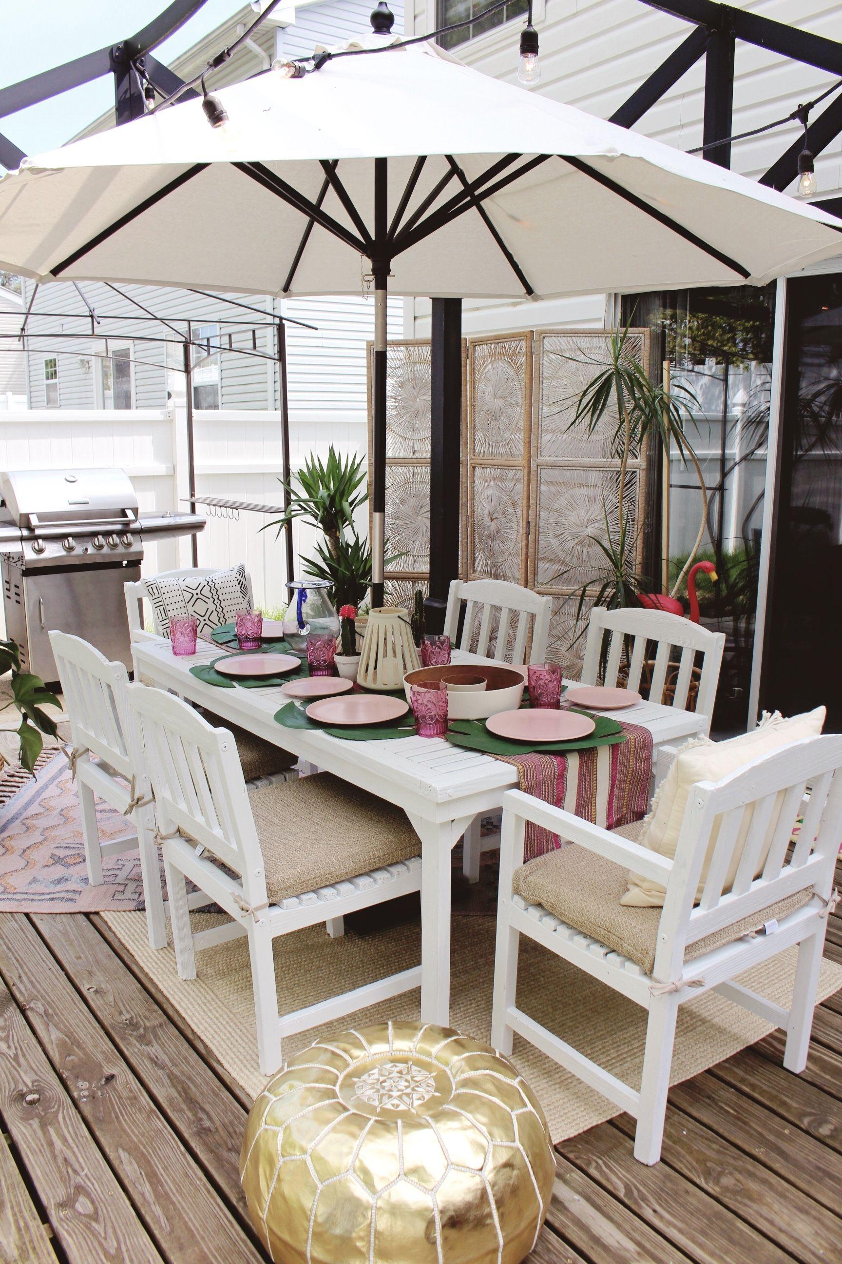 Boho Backyard Paradise Via Goldalamode For Cost Plus World Market Outdoor Entertaining Decor Outdoor Patio Furniture Outdoor Furniture