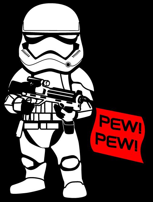 1st Order Stormtrooper Pew Pew Sticker Star Wars Dad Star Wars Stencil Star Wars Dad Shirt