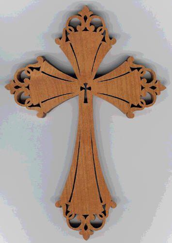 Chip carved fretwork crosses by alan denison