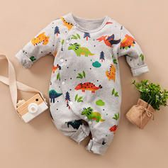 Photo of [US$ 15.99] Baby Boy Dinosaur Animal Cotton One-piece  – Lam…