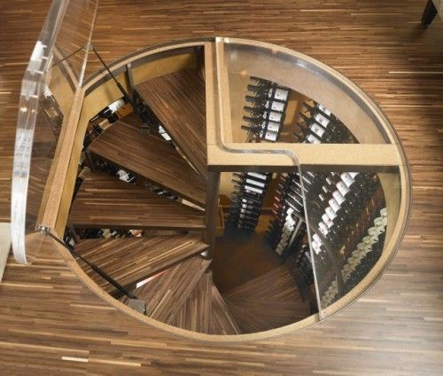 Interesting Wine Cellar That Is Accessed Through A Door In The Floor