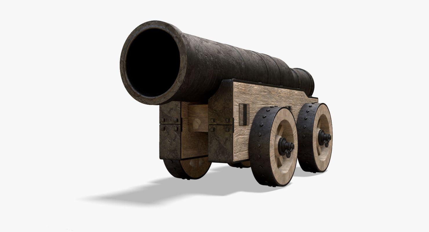 3D model mons meg artillery cannons | New ideas | Cannon, Model, Guns