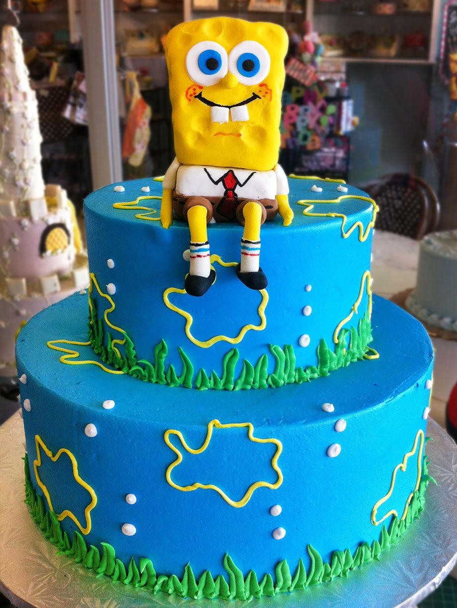 Wondrous A Spongebob Squarepants Birthday Cake Cake 126 With Images Funny Birthday Cards Online Alyptdamsfinfo