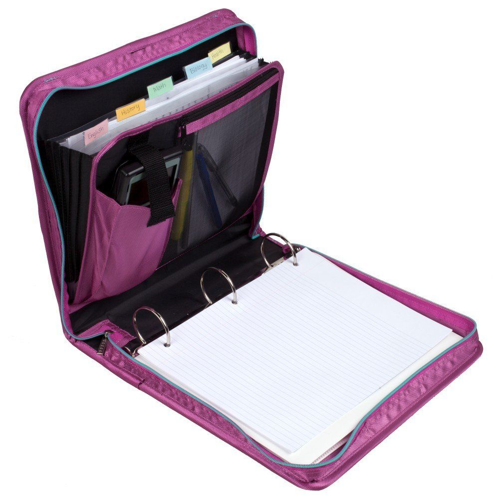 Robot Check Binder Organization School Zipper Binder Stationary School