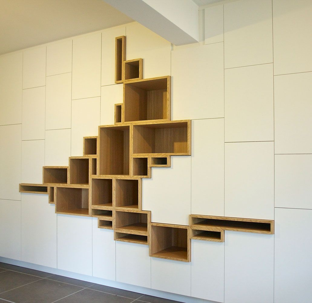Modern storage area - Modern Storage Unit Features Stylized Shelving Mimicking A Crack In The Earth S Surface My Modern Met