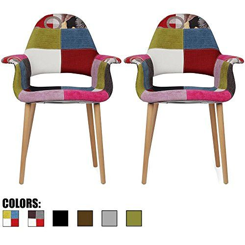 Best 2Xhome Set Of Two 2 Multi Color Upholstered *Rg*N 640 x 480